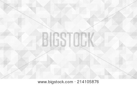 Pattern of triangular. White seamless background