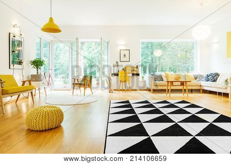Spacious Apartment With Triangle Carpet