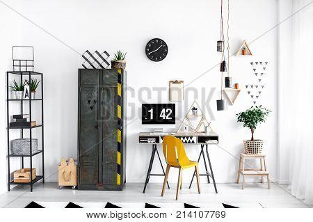 Locker Next To Desk
