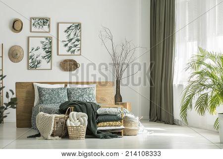Window With Khaki Curtain