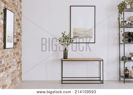 Console Table With Glass Vase