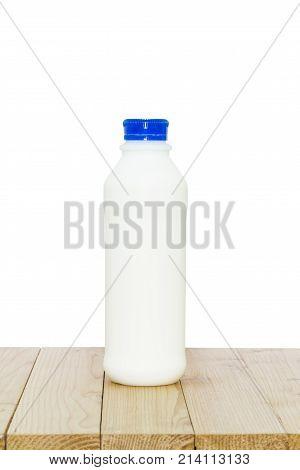 Milk Bottle On White Background