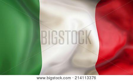 Waving flag of Italy. Patriot of Italy, 3d, illustration