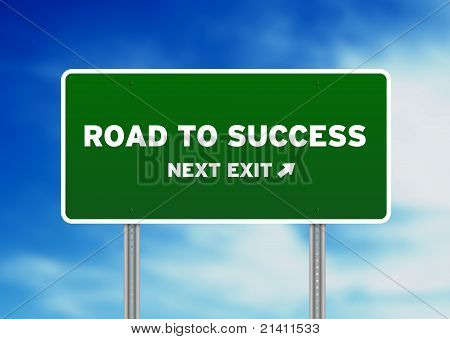 Road To Success Highway Sign
