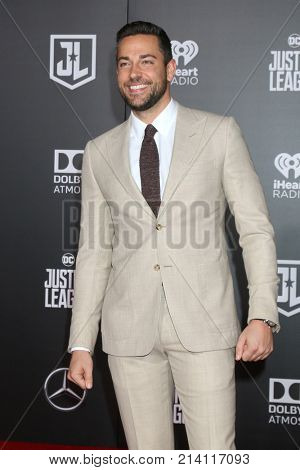 LOS ANGELES - NOV 13:  Zachary Levi at the World Premiere of Justice League at Dolby Theater on November 13, 2017 in Los Angeles, CA