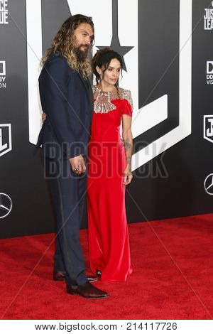 LOS ANGELES - NOV 13:  Jason Momoa, Lisa Bonet at the World Premiere of Justice League at Dolby Theater on November 13, 2017 in Los Angeles, CA