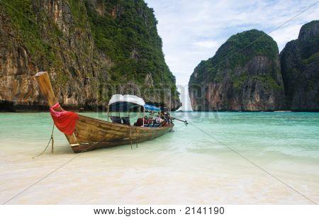 Fishing Boat On Thailand Beach