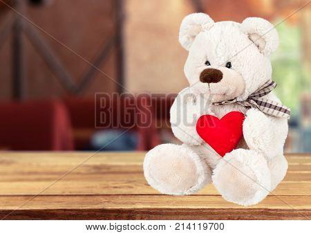 Heart bear teddy teddy bear plush toy red heart color