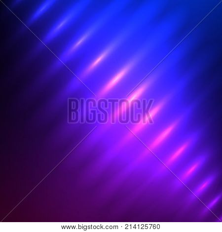 Fashion lights background of bright glowing blur lines. Vector illustration Eps 10. Futuristic style glow neon disco club or night party. Gorgeous graphic template. Theme night Halloween theme party