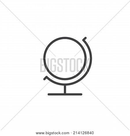 Earth globe line icon, outline vector sign, linear style pictogram isolated on white. Geographic globe symbol, logo illustration. Editable stroke