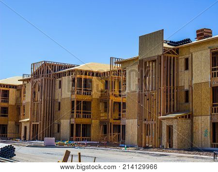 Brand New Multi Story Construction Of Housing Units