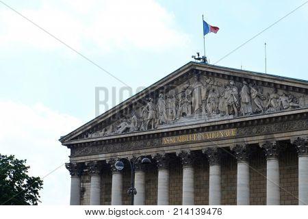 PARIS, FRANCE - APRIL 29, 2017: National Assembly building
