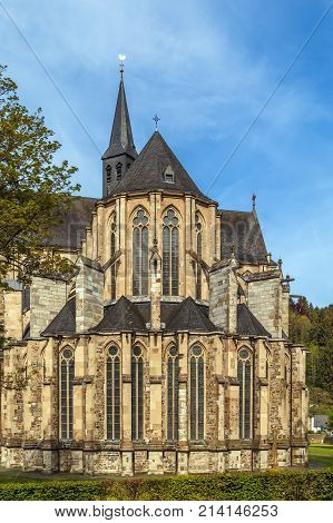 Altenberger Dom (St. Mary Assumption church) is church in Gothic style in former Cistercian monastery in Altenberg Germany. View from apse
