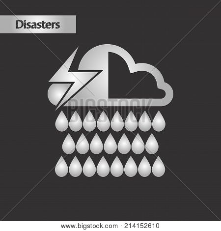 black and white style nature thunderstorm rain cloud