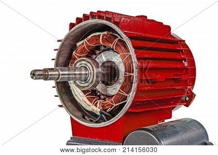 Electrical motor isolated on a white background