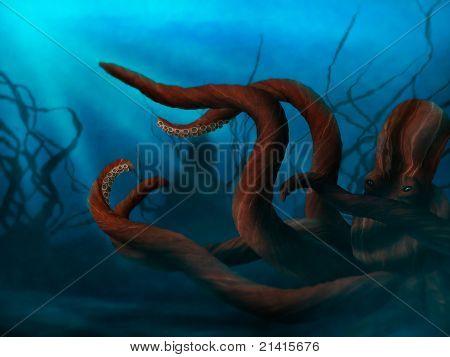 Tintenfisch Tentakeln