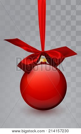 Glass Christmas Red Toy On A Transparent Background. Stocking Christmas Decorations. Transparent Vek