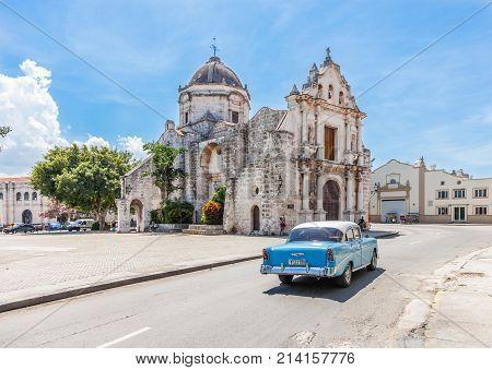 Havana, Cuba-8 October, 2016. Church Iglesia de San Francisco de Paula on 8 of October 2016 in Old Havana, Cuba.