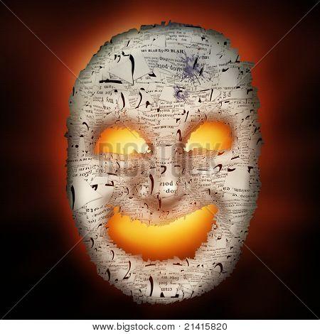 Haunted Papier-Maske