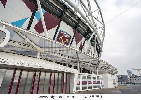 London, UK. 15th November 2017. The exterior of the London Stadium, home of West Ham Utd and UK athletics.