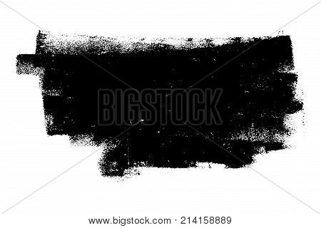 Disrty isolated basis. Artistic messy banner background. Paint roller distress overlay texture. Grunge design element. EPS10 vector.
