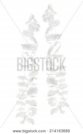 Paper Garlands on an Isolated White Background