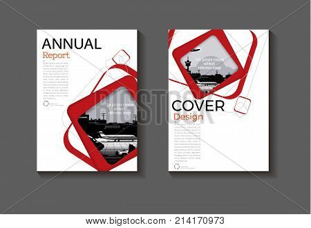 red abstract cover background Circle modern  design modern book cover Brochure cover  template,annual report, magazine and flyer layout Vector a4