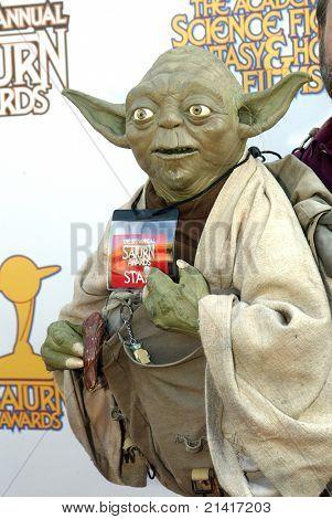 BURBANK, CA - JUNE 23: Yoda arrives at the 37th annual Saturn awards on June 23, 2011 at The Castaways restaurant in Burbank, CA. Yoda's puppiteer is Obi Shawn.