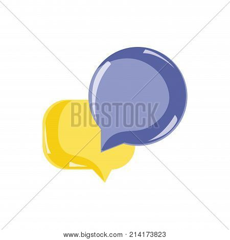 chat bubbles text notes message vector illustration