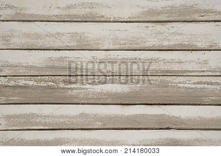 Old White Painted Prairie House Wood Wall. Reclaimed Wooden Background.