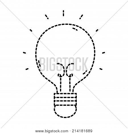 dotted shape light bulb idea to creative invention vector illustration