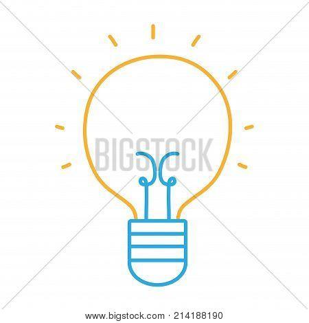 line light bulb idea to creative invention vector illustration