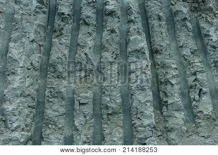 furrow from the excavator on earth as a background