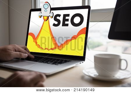 Local Seo Concept Business Team Hands At Work With Financial Reports Links Global Hyperlink Search E