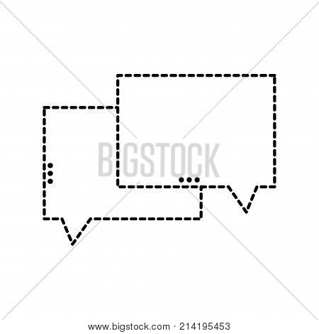 dotted shape chat bubbles text notes message vector illustration