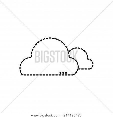 dotted shape natural clouds in the sky and nice weather design vector illustration