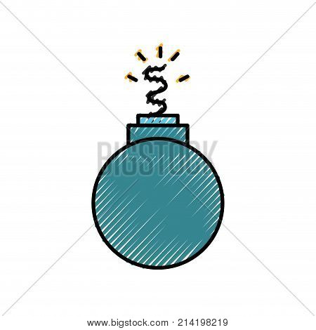 grated danger bomb weapon to explode destruction vector illustration