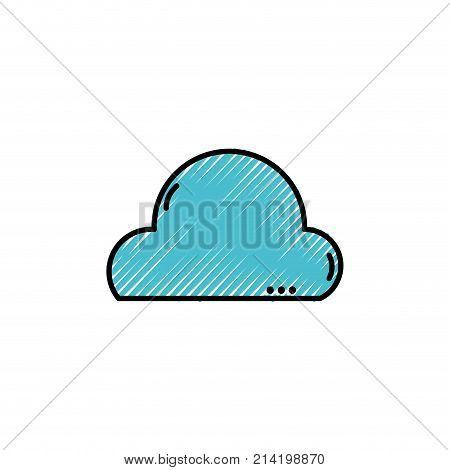 grated natural cloud in the sky and nice weather design vector illustration