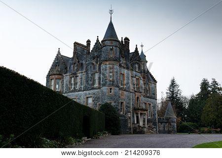November 17th, 2017, Blarney, Ireland - Blarney House, a Scottish Baronial mansion designed by John Lanyon at Blarney Castle.