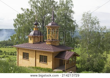 Newly built chapel of Our Lady of the Assumption in a village Markovskaya