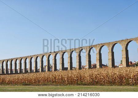 Roman Aqueduct Of Vila Do Conde, Portugal
