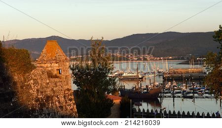 View of the Fortress of Baiona Galicia Spain