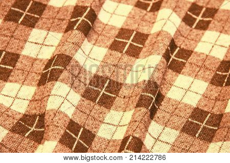 Natural background textile texture in horizontal position