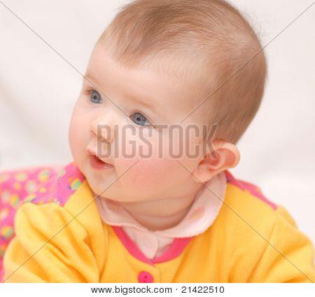 Portrait of beautiful baby
