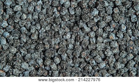 Texture Of Dried Black Aronia Berries