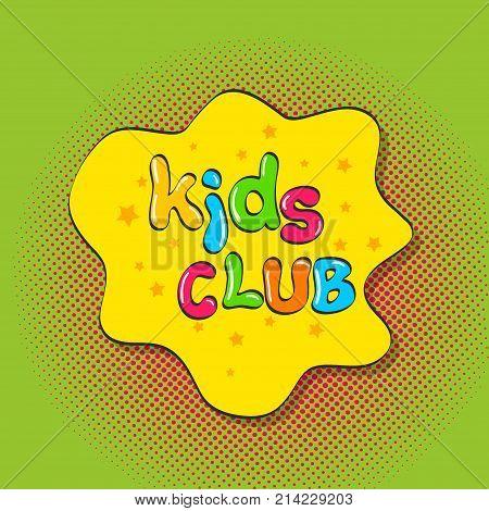 Colorful Kids Club Vector Photo Free Trial Bigstock