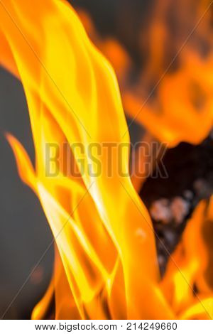 flame of fire as the background . Photo of an abstract texture