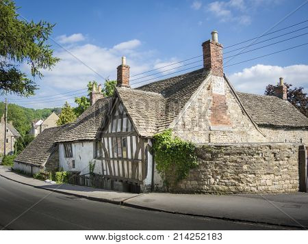 Ancient Ram Inn former 12th century public house reported to be one of the most haunted buildings in the country Wotton-under-Edge Gloucestershire UK