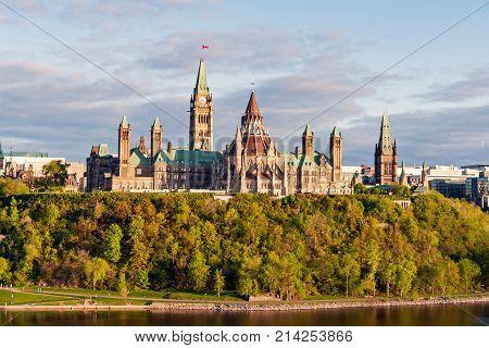 Parliament Hill, In Ottawa - Ontario, Canada