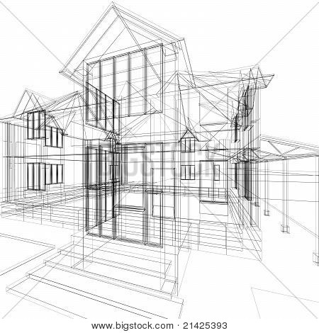 Sketch Of House